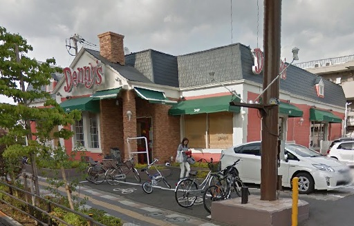 レストラン:デニーズ 谷在家店 466m