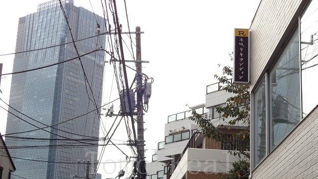 奥に見えるのは東京ミッドタウン