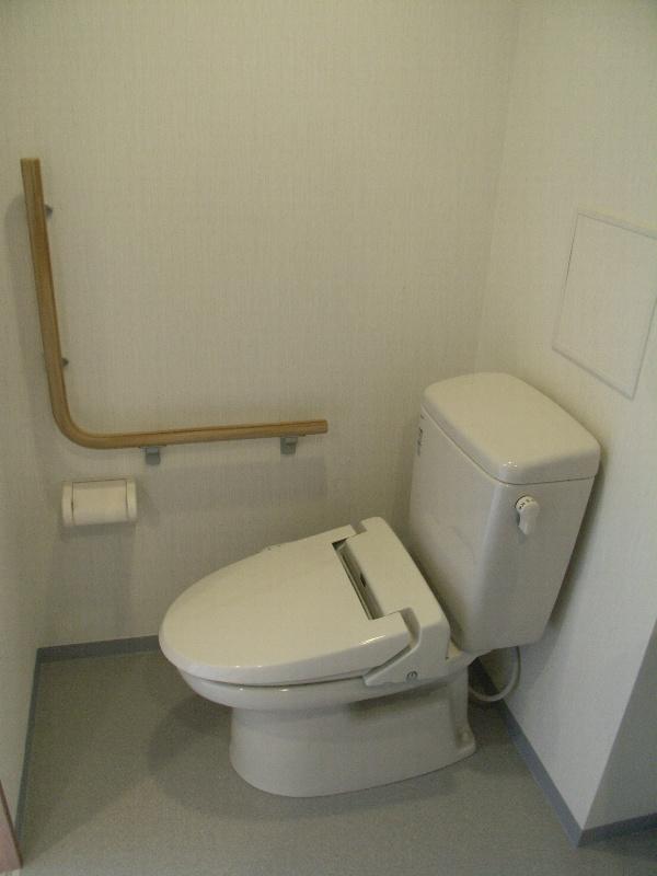 L型手すり付 温水洗浄付暖房便座