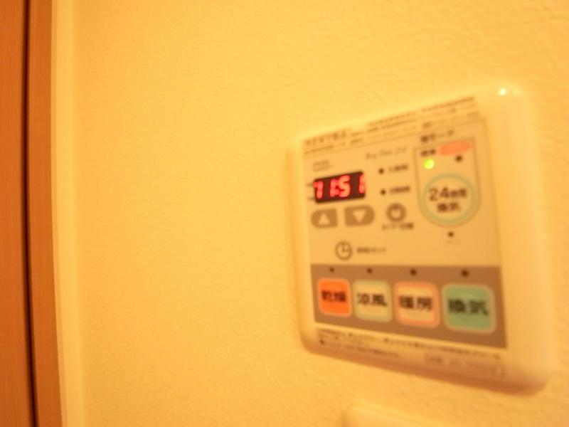 浴室乾燥機付きで雨の日も安心して洗濯できます^^