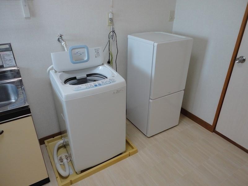 冷蔵庫、洗濯機完備