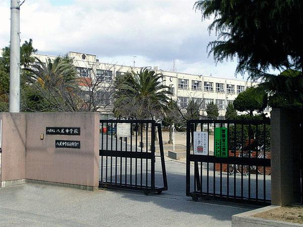 中学校:八尾中学校 900m 近隣
