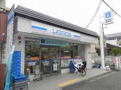 コンビ二:ローソン 高野蓼原町店 34m