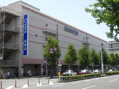 スーパー:イズミヤ高野店 616m
