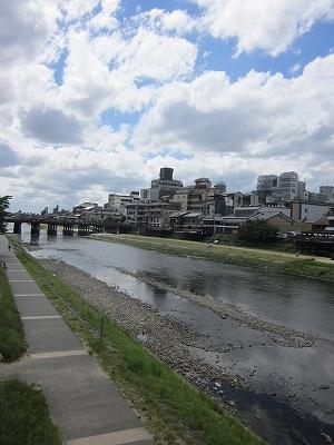 海または川:鴨川 566m