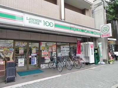 コンビ二:ローソンストア100 河原町今出川店 286m