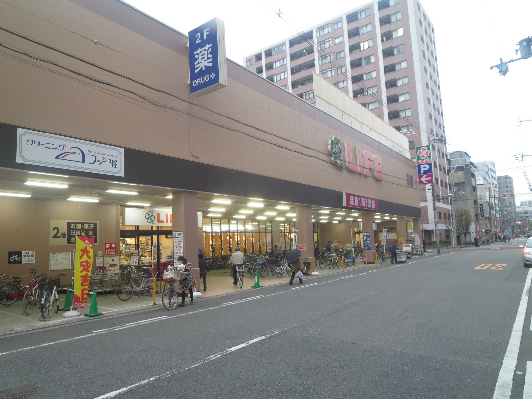 スーパー:ライフ 西大橋店 190m