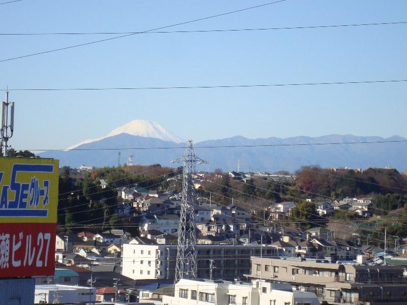 屋上からは富士山が見えます!