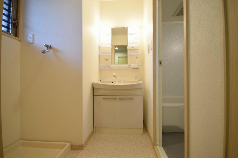 シャワー付洗面化粧台 洗面も浄水