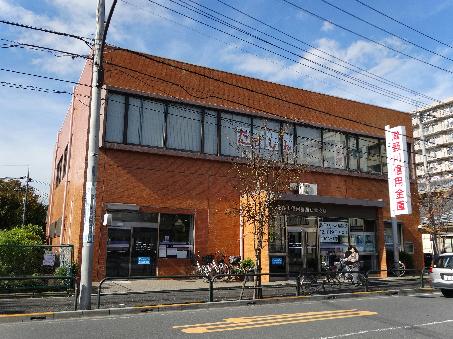 銀行:瀧野川信用金庫 江北支店 334m
