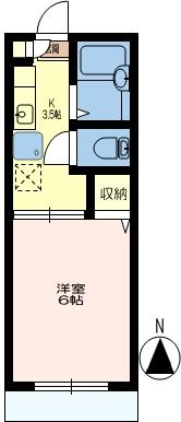 洋室の区切りはカーテンになります。