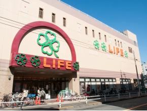 スーパー:ライフ 経堂店 363m