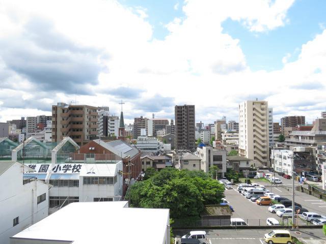 桜島が見えます。