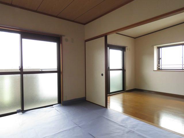 バルコニーから桜島が見えます。