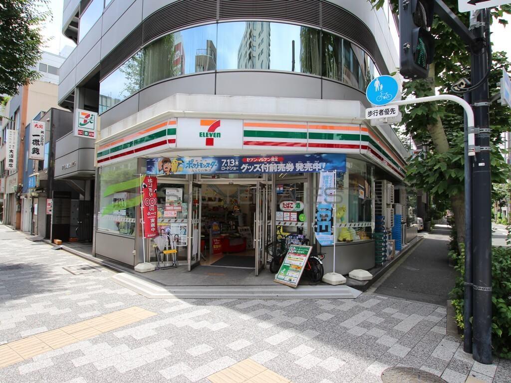 コンビ二:セブンイレブン 日本橋久松町店 300m