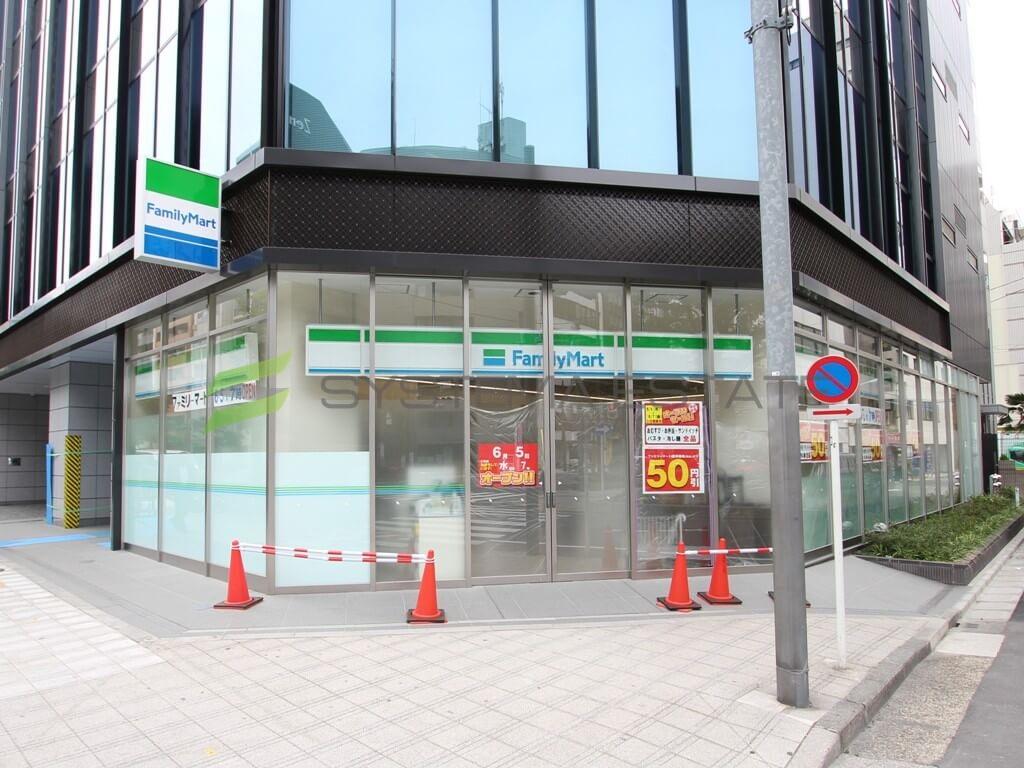 コンビ二:ファミリーマート 小伝馬町鞍掛橋店 87m