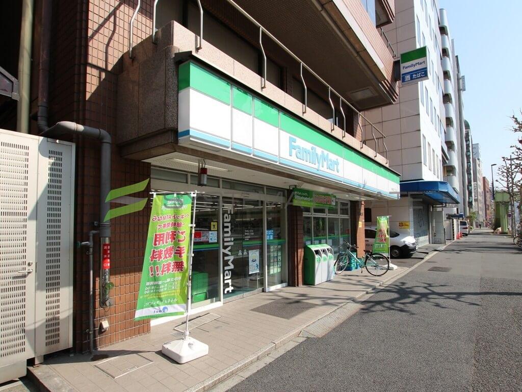 コンビ二:ファミリーマート 東神田二丁目店 184m