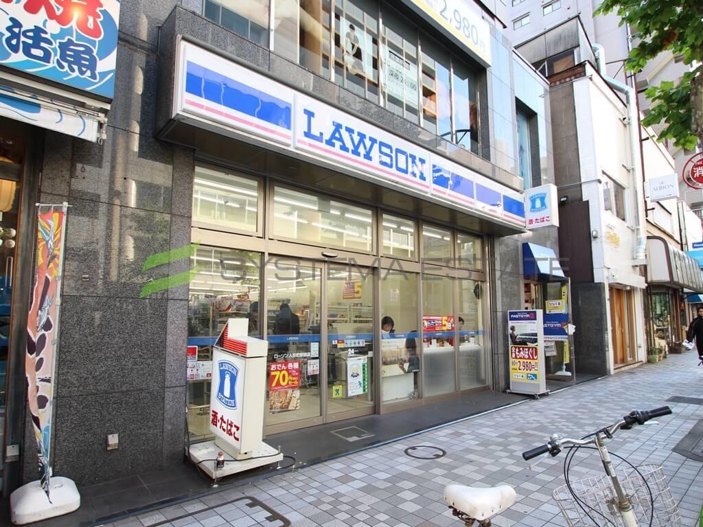 コンビ二:ローソン 人形町駅前店 191m