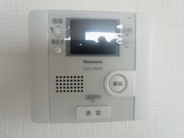 TVモニター付インターフォン。