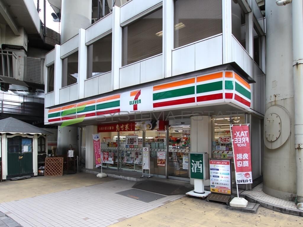 コンビ二:セブンイレブン 日本橋T-CAT店 356m