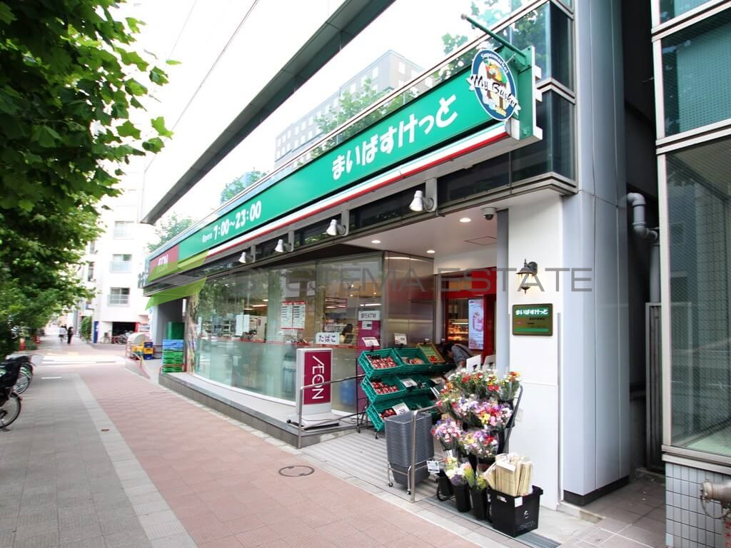 スーパー:まいばすけっと 新富町駅前店 389m