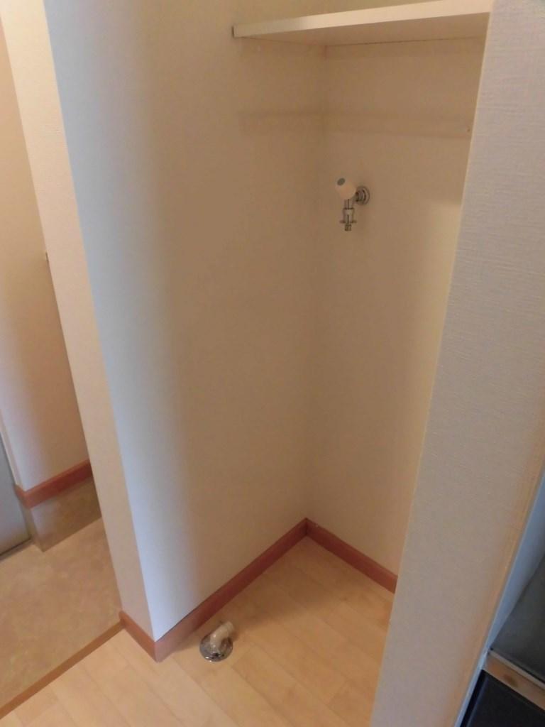 室内洗濯機置場です!