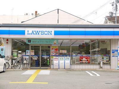 コンビ二:ローソン 千本一条店 487m