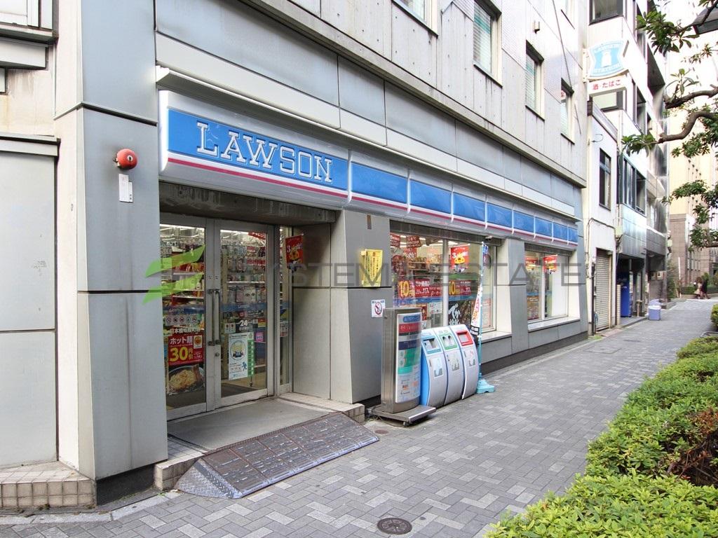 コンビ二:ローソン 日本橋蛎殻町店 93m