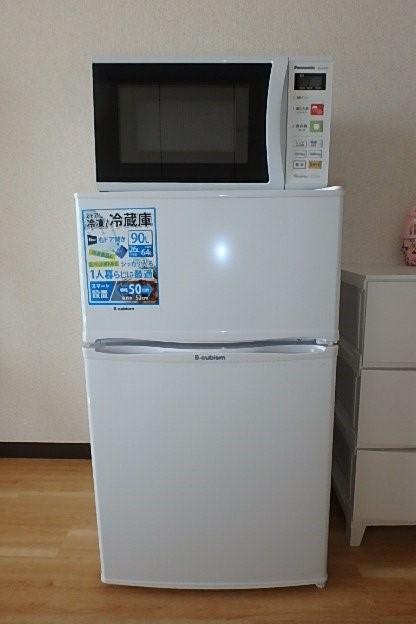 希望者は冷蔵庫・電子レンジ賃料¥2000円アップで新品取付ます