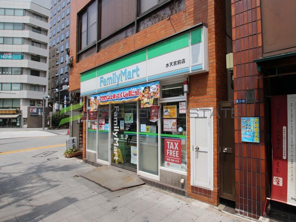 コンビ二:ファミリーマート 水天宮前店 240m