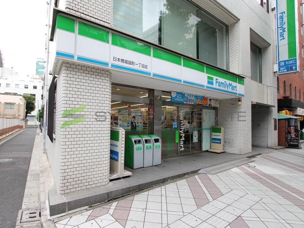 コンビ二:ファミリーマート日本橋堀留町一丁目店 166m