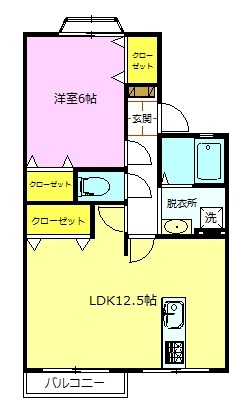 2DK→1LDKにリノベーションしました。