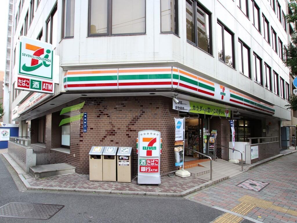 コンビ二:セブンイレブン  中央区明石町店 110m