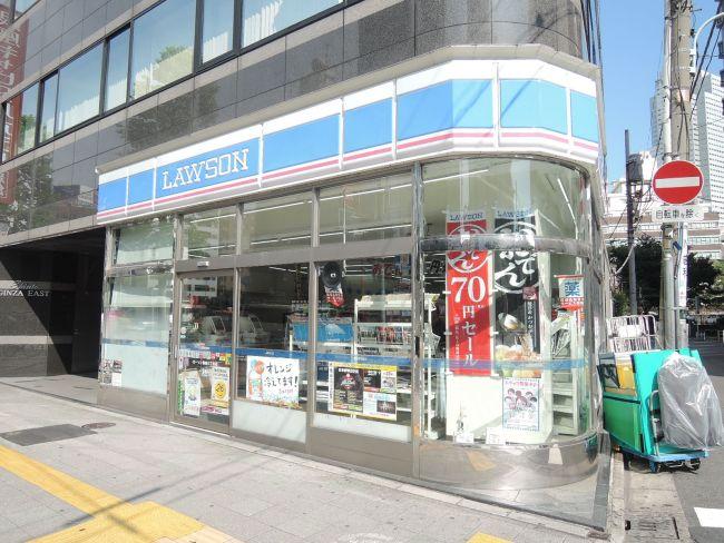 コンビ二:ローソン H築地三丁目店 217m