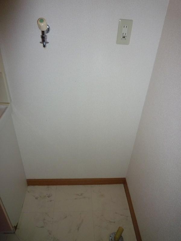 洗濯機置き場は床に直置きするタイプなので洗濯機のサイズが気になりません