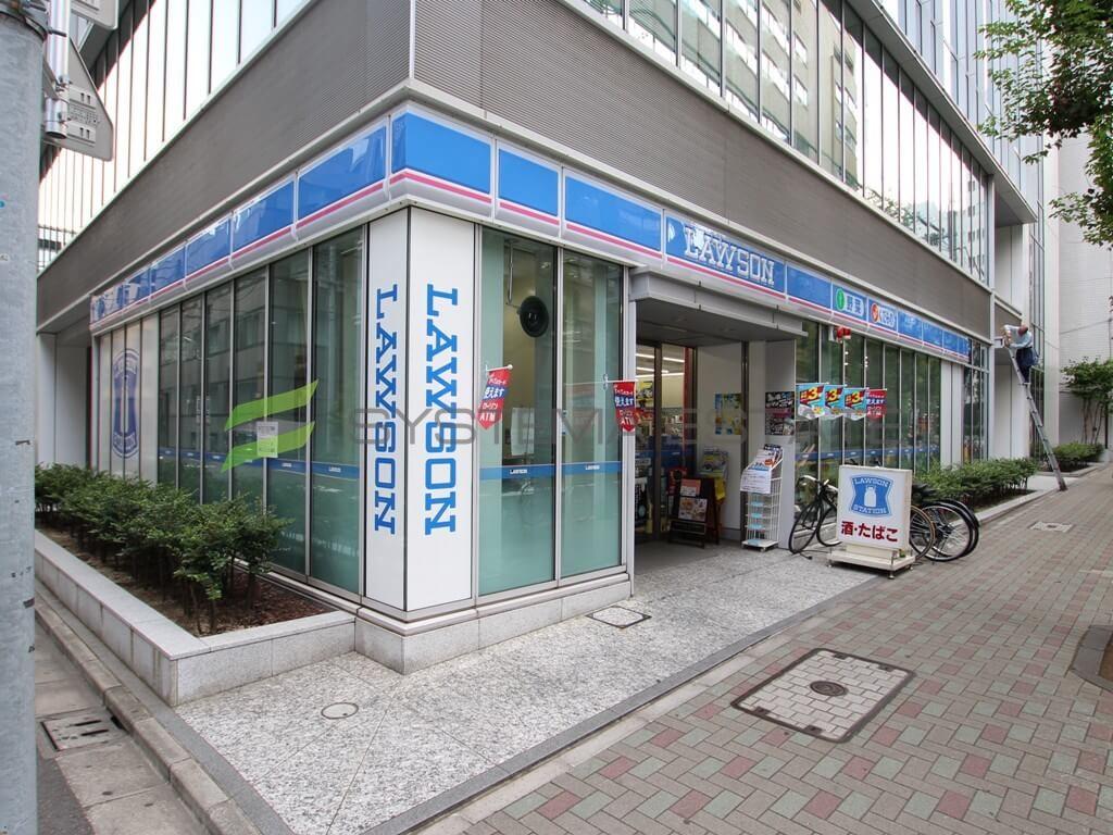 コンビ二:ローソン 日本橋蛎殻町一丁目店 63m