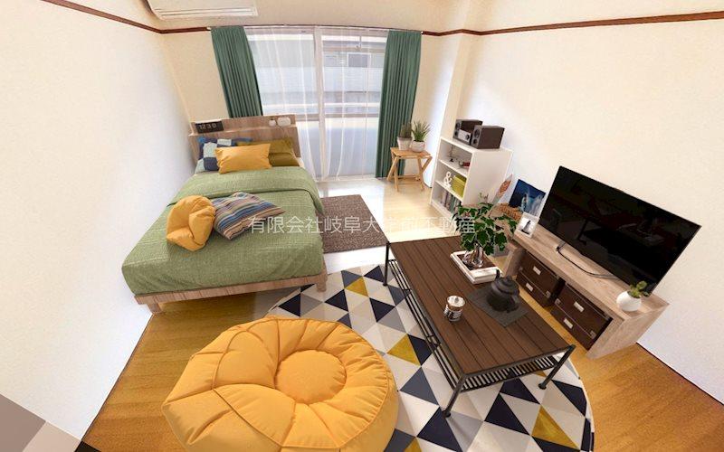 家具設置イメージ(画像中の家具や小物はCGイメージであり、実際のお部屋には設置されておりません)