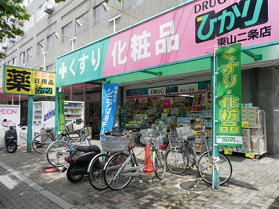 ドラッグストア:ドラッグひかり 東山二条店 460m