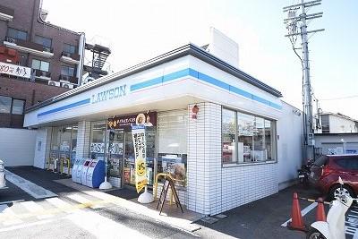 コンビ二:ローソン 北野白梅町店 386m