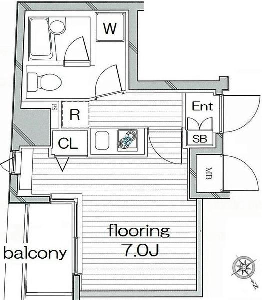 7畳居室があります