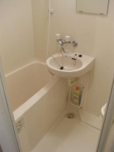 鏡付バスルーム。