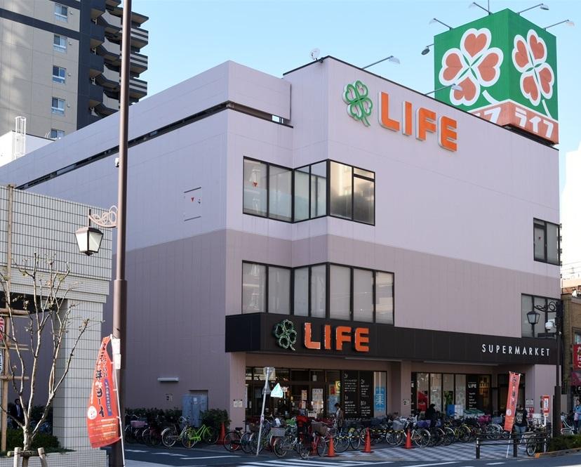 スーパー:ライフ 浅草店 262m