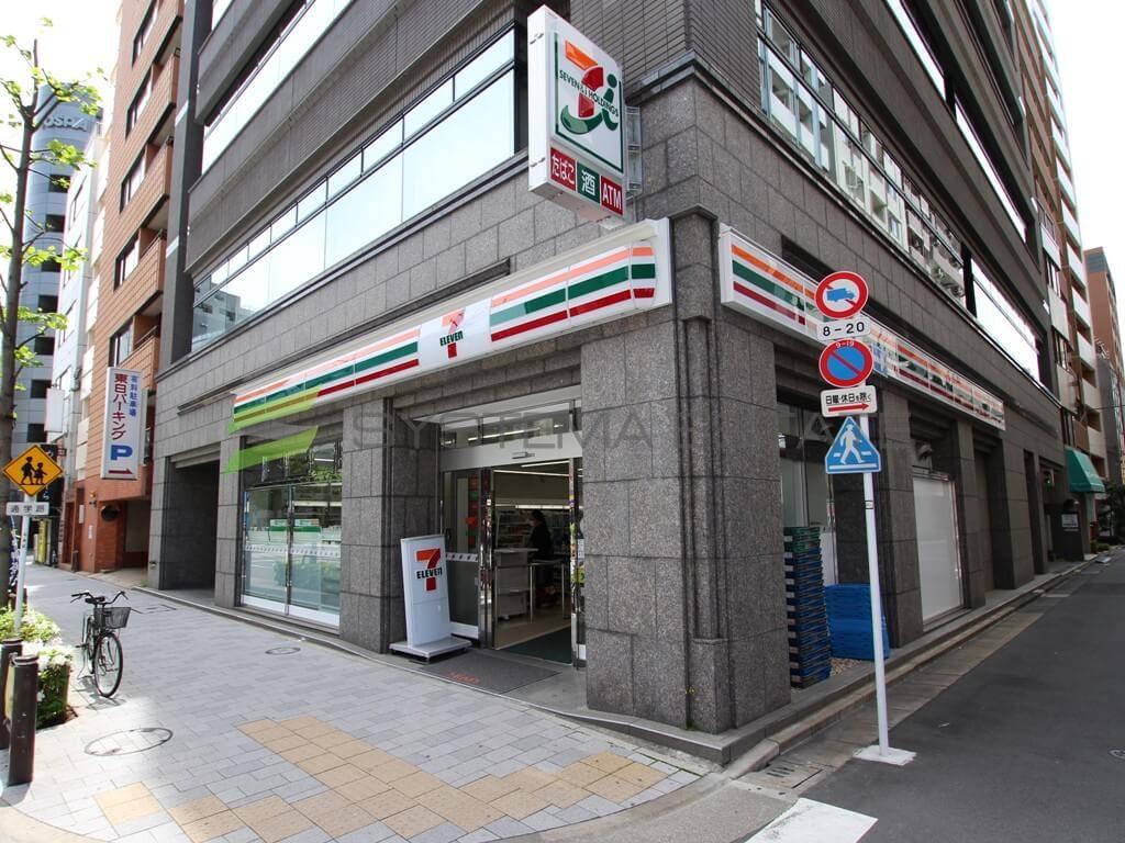 コンビ二:セブンイレブン 馬喰横山駅前店 105m