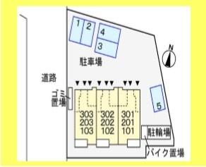 部屋の配置図です