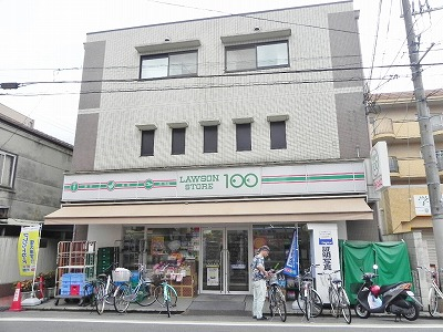 スーパー:ローソンストア100 一乗寺駅前店 380m