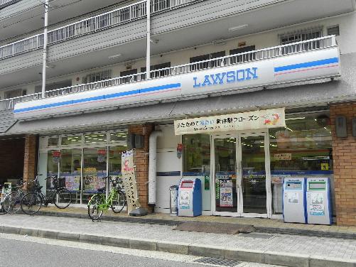 コンビ二:ローソン 高原店 433m