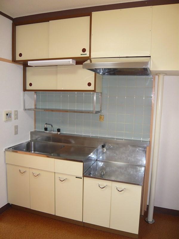 キッチン、2口コンロ設置可能