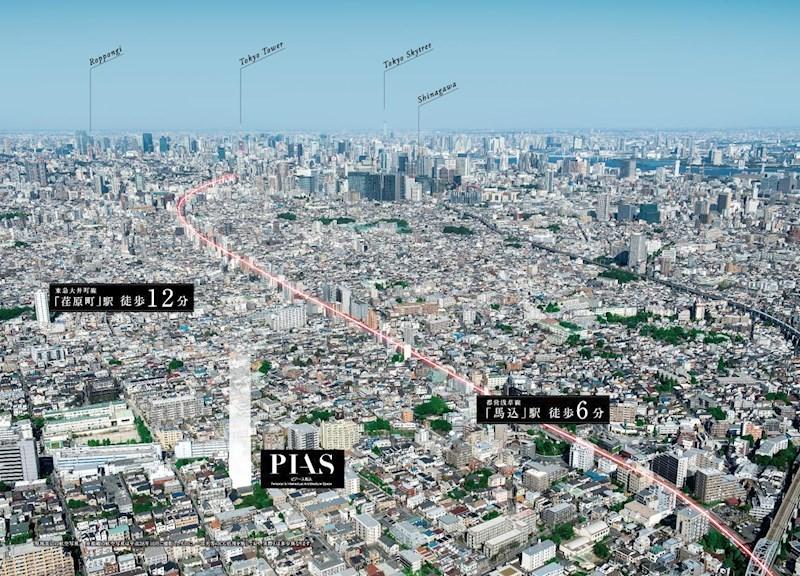 現地周辺の航空写真
