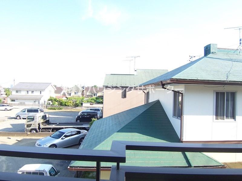 南東角部屋(リビング?のお部屋からの眺望です)