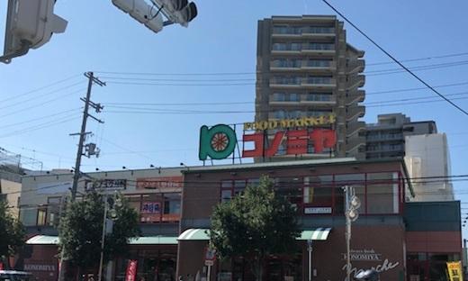 スーパー:スーパーマーケット コノミヤ 緑橋店 273m